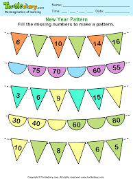 Number Patterns Fascinating Recognize Number Patterns And Complete Them Worksheet Turtle Diary