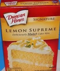 New Duncan Hines Lemon Supreme Cake Mix Signature Party Supply Ebay