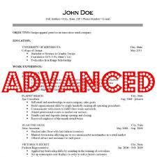 Advanced Resume Advanced Resume Iv Careers