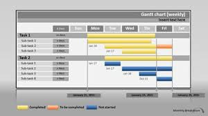 power point gant chart gantt chart project progress a powerpoint template from