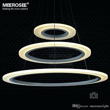 modern led chandelier 3 rings circles modern led chandelier pendant lights lighting for dining room white