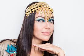 woman dressed as cleopatra source inspired by the ancient egyptian