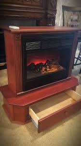 amish electric fireplace and heater with remote its american made fireplace has thermostat for the heat comes with remote for in modesto ca offerup