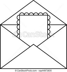 Card Outline Greeting Card In Envelope Icon Outline Style Greeting Card In