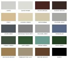 Gutter Color Chart Denver Roofing Siding Gutter Denver Co