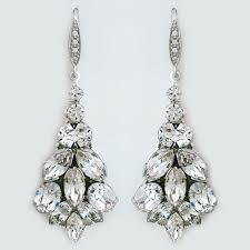 marquis crystal bridal chandelier earrings
