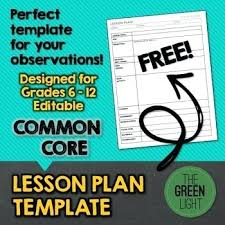 Common Core The Teachers Friend Lesson Plan Template With Sample ...