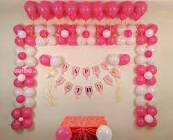 excellent pink white balloon decoration