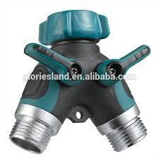 garden hose shut off valve. Garden Hose Splitter 2 Way Y Valve Connector With Built In Shut-offs - Buy Shaped Connector,Swivel Connector,Garden Tap Shut Off