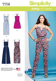 Simplicity Jumpsuit Pattern Magnificent Simplicity 48 Misses' Easy Dress And Jumpsuits