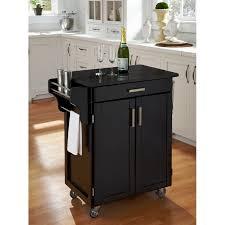 cuisine cart black finish black granite top create a cart