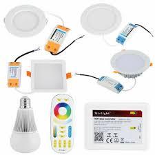 <b>Milight</b> 6/9/12/18W <b>RGB CCT</b> Dimmable LED Panel Downlight ...