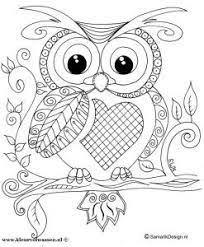 Image Result For Schattige Kleurplaten Uiltjes Owls Buhos Para