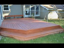 how to build a ground level deck you