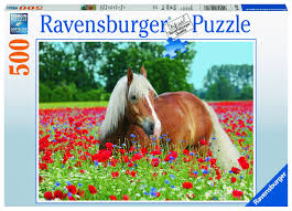 "<b>Пазл Ravensburger</b> ""<b>Лошадь в</b> маках"" 500 шт арт.14831 — купить ..."