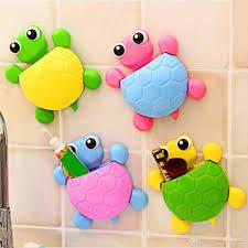 Großhandel Nette Schildkröte Wand Sucker Haken Zahnbürstenhalter