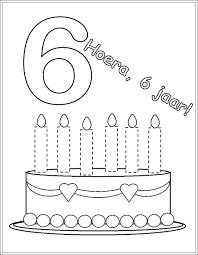 Taart Kleurplaat Met 5 6 Kaarsen Google Zoeken Cijfers School