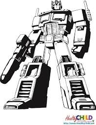 Small Picture optimus prime coloring pages