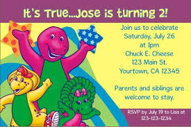 barney party invitation template barney invitations personalized party invites
