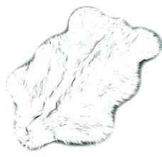 black furry rug white furry rug fur area rug black tip wolf premium fur area rug