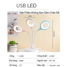 Đèn học để bàn chống cận USB Kiêm Đèn Ngủ Nhỏ Gọn, Tiện lợi - Đèn bàn Tiết  Kiệm Điện tốt giá rẻ
