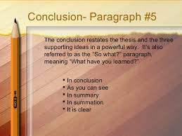 how to write a paragraph essay 9 conclusion paragraph 5