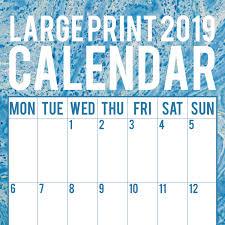 print a calendar 2019 large print calendar 2019 wall calendar 16 month premium square