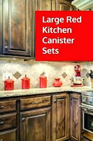 rustic kitchen canisters s red canister set distressed white country rustic kitchen canisters red distressed white star canister set
