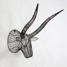 wire animal trophy head by all things brighton beautiful rh notonthehighstreet com metal wire animal heads