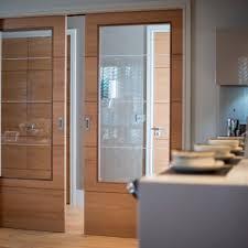 sliding internal doors with glass panel white pocket door