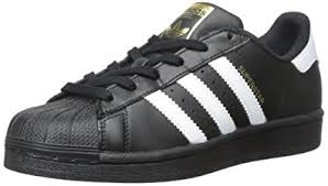adidas shoes superstar black and white. adidas originals superstar foundation j casual basketball-inspired low-cut sneaker (big kid shoes black and white s