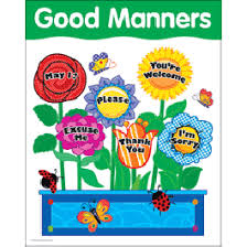 Good Manners Chart English Drug Prevention Health