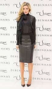 abbey clancy does leather skirt and sheer shirt for ultimo valentine s collection launch