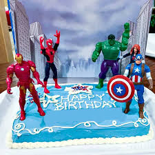 Marvel comics action cake design. Avengers Birthday Cake Idea And Party Supplies Kenarry