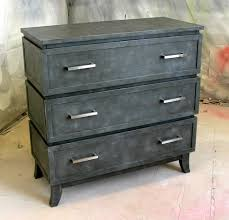 Faux Metal Chest of Drawers