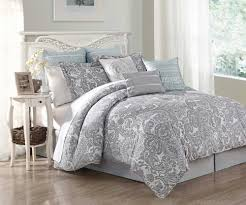 grey comforter king size combined white