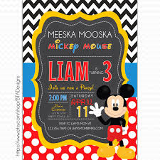bta designs mickey mouse inspired birthday invitations mickey mouse clubhouse birthday party invitation