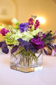 Wedding Flowers Ideas Simple Purple Wedding Flower Centerpieces