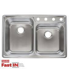 franke fast in 33 5 in x 22 5 in stainless steel double basin