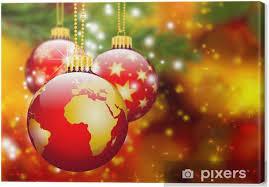 Leinwandbild Christbaumschmuck Erde Kugel Weltkugel Abstrakt Weihnachten