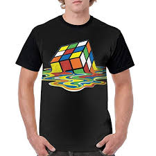 Amazon Com Melting Rubix Cube Mens Casual Fashion Graphic