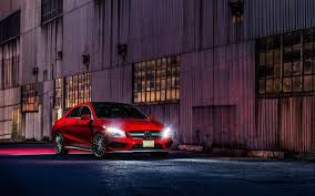 Night Sedans Mercedes Benz Cla Amg Red Mercedes Cars