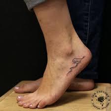 волна на ноге сделано в Inkfactory