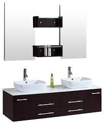 kokols 60 wall mount floating 60 inch double sink bathroom vanity espresso bathroom
