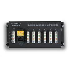 "wirepathâ""¢ 1 x 6 telephone distribution module rj31x security jack"