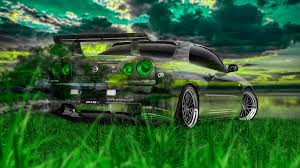 nissan skyline gtr r34 jdm crystal nature car