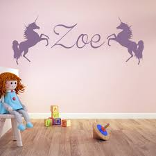 unicorn personalised name wall stickers hot wall decal girls design of unicorn wall sticker