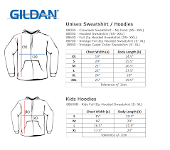 Gildan Shirt Size Chart Gallery Of Chart 2019