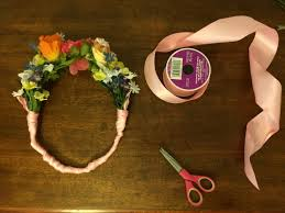 flower crown ribbon finished crown