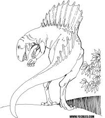 Small Picture Spinosaurus Coloring Page by YUCKLES
